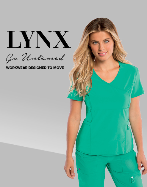 098891fea17 LYNX: New line from Landau Scrubs is Read's Uniforms' featured brand for  the month of March.